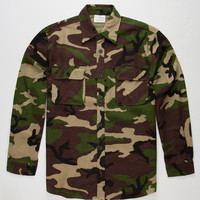 Rothho Heavyweight Camo Mens Flannel Shirt Camo  In Sizes