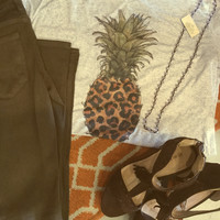 Leopard pineapple t-shirt