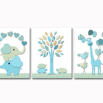 shop blue elephant baby shower decorations on wanelo