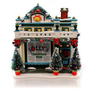 Department 56 House JOLLYS CHRISTMAS SHOP Snow Village Mid Year Ltd Ed 4049208