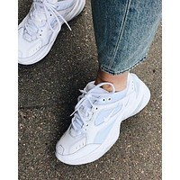 NIKE AIR M2K TEKNO retro men's and women's casual platform sports shoes White