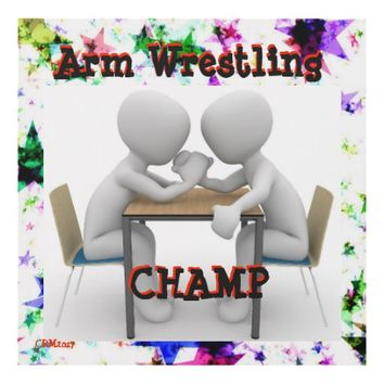 Arm Wrestling Champ Wall Hanging Panel Wall Art