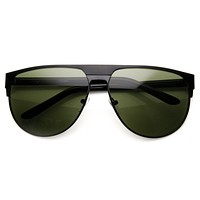 Modern Euro Full Metal Flat Top Aviator Sunglasses 8827