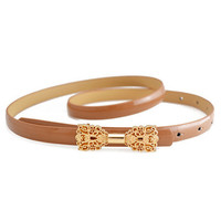 Camel Butterfly Deco Shaped Waist Belt