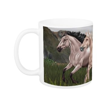 Buckskin and Palomino Horse Coffee Mug
