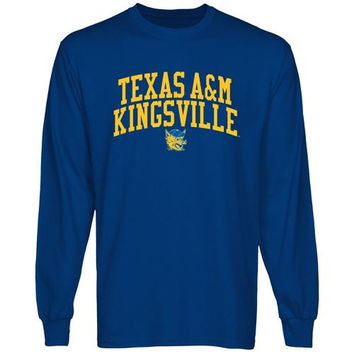 Texas A&M Kingsville Javelinas Team Arch Long Sleeve T-Shirt - Royal Blue