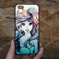 Shells and starfish,little mermaid iphone case,phone case,galaxy S5 case,iPhone 5C 5/5S 4/4S,samsung galaxy S3/S4/S5,Personalized Phone case