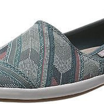 Sanuk Women's Kats Meow Prints Shoes Mallard 6.5