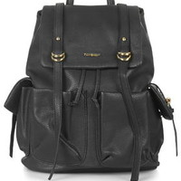 Large PU Backpack - Black