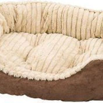 DCCKU7Q Ethical Sleep Zone 26' Chocolate Plush Bed Carved