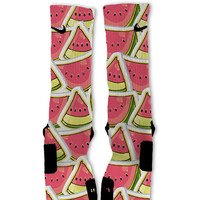 Fast Shipping!! Nike Elite Socks Customized Watermelon Custom Nike Elite Socks