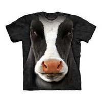 Kids' Big Face Black Cow T-shirt - buy at Firebox.com