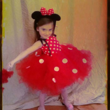 Minnie mouse tutu dress, minnie mouse tutu, classic minnie mouse, polka dot tutu, minnie mouse birthday dress, disney inspired tutu dress