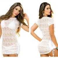 Mapale 7723 Cover-Up Beach Dress Color White