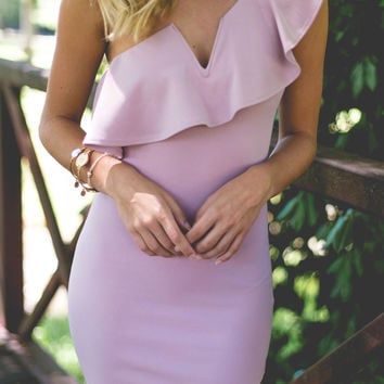 Girls Night Out- One Shoulder Dress
