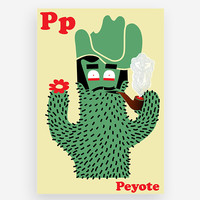 P is for Peyote Print