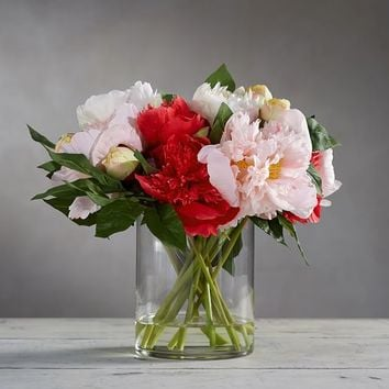 Faux Peony Composed Arrangement