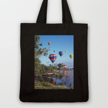 Hot air balloon scene Tote Bag by Bruce Stanfield | Society6