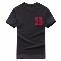 Summer Hot Man's Jordan 23 T Shirts Cotton Men Women O-neck Fashion Printed 23 Hip-Hop Tee Camisetas Men Clothing Casual Top