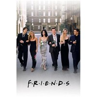 Friends-Walking on the Street, Television Poster Print, 24 by 36-Inch