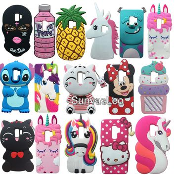 For Samsung Galaxy S9 / S9+ S9Plus 3D Case Cartoon Animal Unicorn Soft Silicone Case Cover Skin Phone Fundas Shockproof Shell