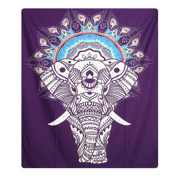 148X210cm Wall Hanging Indian Mandala Tapestry Bohemian Bedspread Dorm Cover Yoga Mat Beach Towel Home Room Wall Art Decor