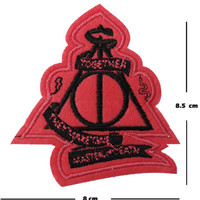 Deathly hallows Iron / Sew On Embroidered Patch hogwarts Badge potter Embroidery | eBay