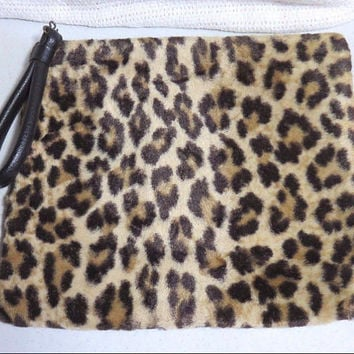 Now On Sale 1960's Vintage Leopard Faux Fur Handbag * Retro Rockabilly Mid Century Collectible Purse * Old Hollywood Regency Glamour Style