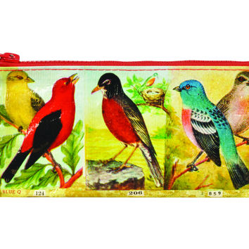 Blue Q Pencil Case (Birds)
