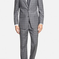 Men's Michael Kors Trim Fit Plaid Wool Suit