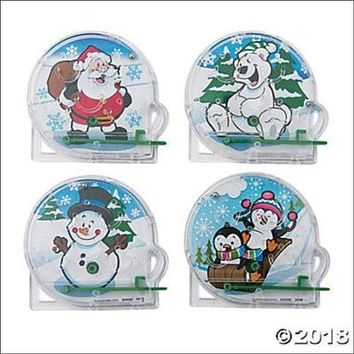 CHRISTMAS ~ 8 Mini Holiday Pinball Games, Toys, Stocking Stuffers, Party Favors