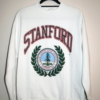 BeWorn — Vintage White University of Stanford Cardinal College Jumper