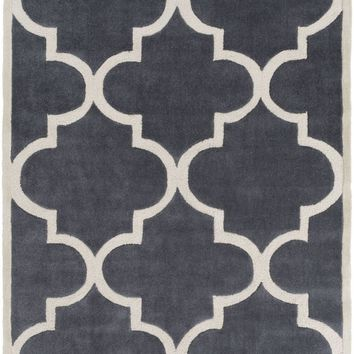 Mamba Geometric Area Rug Gray