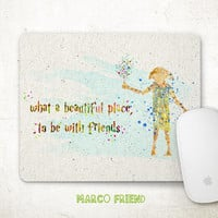 Harry Potter Mouse Pad, Dobby Mousepad, Harry Potter Qoute, Watercolor Art, Office Decor, Gifts, Art Print, Kids Desk, Computer Accessories