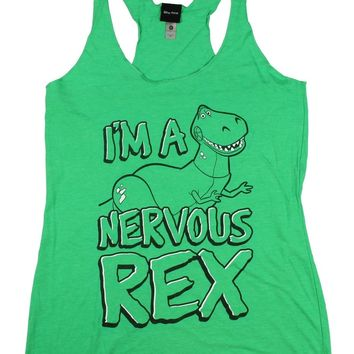 Toy Story Nervous Rex Womens Graphic Racerback Tank - Fifth Sun