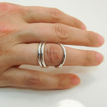 Sterling Silver R.A. Splint - Silver Wrap Ring Splint - Rheumatoid Arthritis Splint Ring - Silver Splint