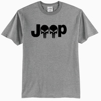 Athletic Heather Gray Jeep Punisher Adult T-Shirt