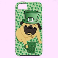 Funny St. Patrick's Irish Pug iPhone 5 Covers from Zazzle.com