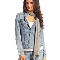 Solid Jersey Raw Edged Scarf | Wet Seal