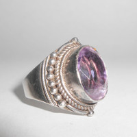 Sterling Amethyst Ring Southwest Size 9