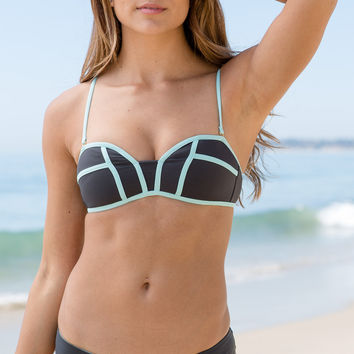 L*Space Swim - Bombshell Top | Charcoal