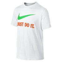 Nike Just Do It Swoosh Boys' T-Shirt Size Small (White)