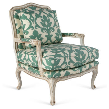 Harper Bergère, Green/Ivory Jardin, Accent & Occasional Chairs
