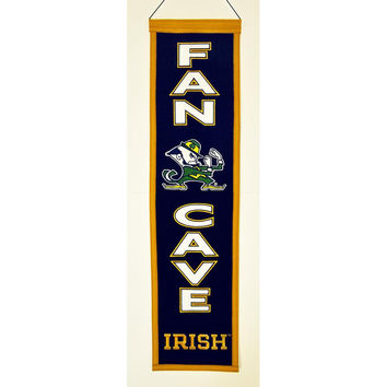 Notre Dame Fighting Irish NCAA Man Cave Vertical Banner (8 x 32)