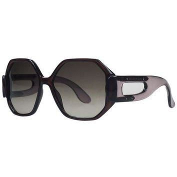 ONETOW balenciaga brown violet oversized sunglasses 2