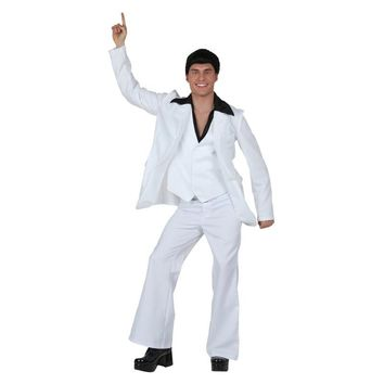 Vocole Men 60s 70s Retro Disco Music Costume Suit Groovy Dancer Fancy Fancy Dress Size M XL