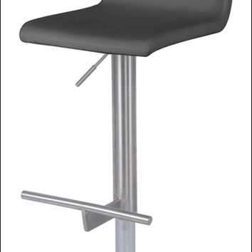 Renly Gaslift Bar Stool, Gray