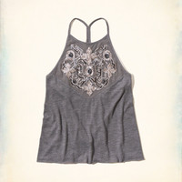 Sequin High Neck Cami
