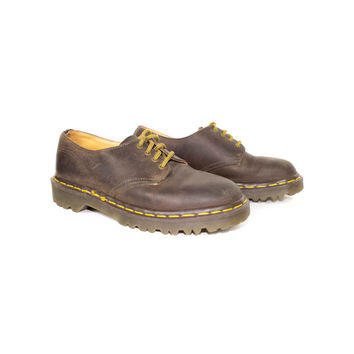 DR MARTENS 4 eye oxfords - made in england docs - brown leather oxford - 37 eu - 4 uk - womens 6 us