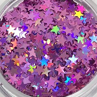 Glitter Stars- Light Purple
